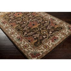 Surya Aurora Classic Hand Tufted Wool Espresso x Arts and Crafts Area Rug Area Rugs For Sale, Rug Sale, Craftsman Rugs, Craftsman Style, Brown Art, Entry Rug, Hand Tufted Rugs, Arts And Crafts Movement, William Morris