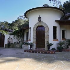 Spanish style entrance in Santa Barbara . . .
