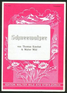 THOMAS KOSCHAT - WALTER WILD - SCHNEEWALZER - 1950 - FÜR AKKORDEON | eBay