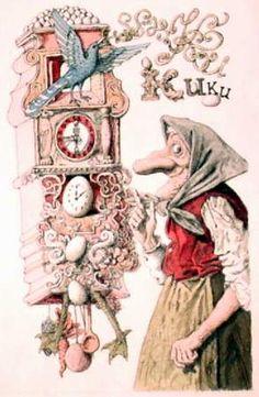 Illustration by Slovak Illustrator Peter Klucik from a children book
