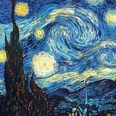 Starry Night, Van Gogh  Have students recreate starry night with markers