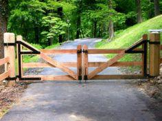 Wood Farm Fence Gate