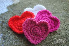 super easy free crochet heart pattern xox