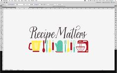 New logo for Recipe Matters, a culinary business looking to make cooking easier. Inspired by a classic kitchen.