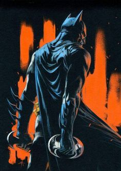 Batman by Gabriele Dell'otto Batman The Dark Knight, Batman Dark, Hq Marvel, Marvel Dc Comics, Comic Books Art, Comic Art, Batman Kunst, Fantasy Anime, Star Trek