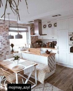 Kitchen Room Design, Home Decor Kitchen, Interior Design Kitchen, Home Kitchens, Cuisines Design, Apartment Interior, Cozy House, Kitchen Remodel, Sweet Home