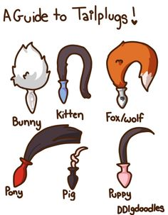A guide to animal tail butt plugs. If you're into pet play these special anal plugs can be so fun!