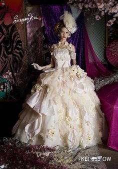 I love the many crinkled and gathered layers of tulle and silk.