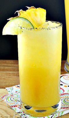 Refreshing Pineapple Margarita Cocktail on MyRecipeMagic.com