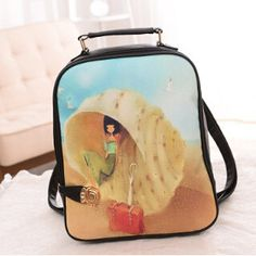 NEW 2016 Fashion Design Patchwork PU Leather Ultralight Backpack 20 Designs