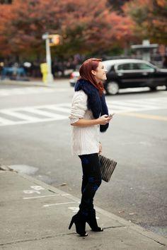 Street Scene Vintage: {20 Ways to Wear}: Chunky Knits