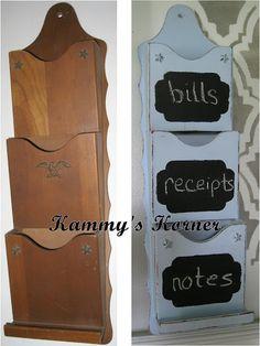 Kammy's Korner: A little garage sale find, a little DIY chalk paint, a little sand paper.