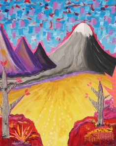 My Daughter's Desert, mixed  media, www.melaniebirk.com