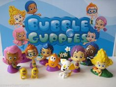 NICKELODEON BUBBLE GUPPIES 12 PC Deluxe Figure Toy Set Cake Topper Oona Molly | eBay