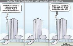 Charge do Lute sobre a lista da Odebrecht (24/11/2016) #Charge #Política #Temer #LavaJato #Odebrecht #Corrupção #HojeEmDia