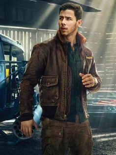 Nick Jonas Distressed Leather Jacket