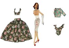 Yves Saint Laurent's Paper Dolls