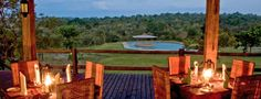 Nkambeni Tented Camp with view from dining room.