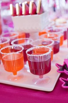 Rockstar Party Kiddie Jell-O shots!
