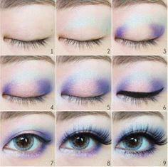 Blue and Pink Eyeshadow Tutorial - Neue Seite - Make-up - Cute Makeup, Pretty Makeup, Diy Makeup, Makeup Inspo, Eye Makeup Tips, Makeup Inspiration, Casual Makeup, Makeup Ideas, Makeup Products