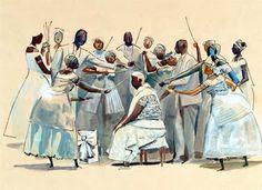 Caribé - Hector Julio Páride Bernabó (Lanús,07.fev.1911-Salvador,02.out.1997) Instituto Internacional de Arte Naif: ceramista- Arte naïf brasileira