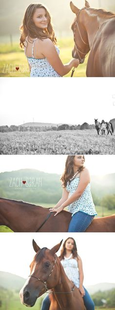 Senior Session. A girl and her horse.
