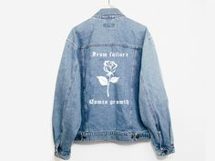 From Failure Comes Growth Denim Jacket - Spikes and Seams