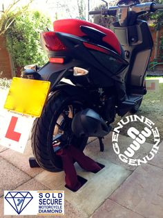 bike etc. super heavy duty security ground//wall anchor bracket for motorbike