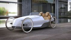 Scuderie Campari exists to make pedal power dreams utterly and totally sexy. This is their SC-1 ultra-luxe pedal car concept for adults, and it is gorgeous!