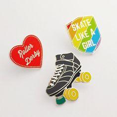 Patin à roulettes émail Lapel Pin Badge rollers par fairycakes