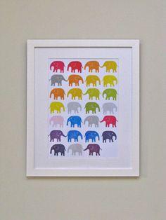 love the rainbow elephants.