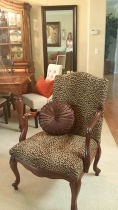 Traditional style meets the wild side! cheetah chair for living room