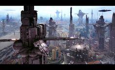 Futuristic City 6 by Scott Richard by rich35211 | Sci-fi metropolitan city