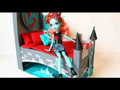 How to make a Lorna McNessie doll bed tutorial - Monster High
