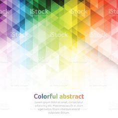 Colorful abstract vector background with triangular geometric pattern. royalty-free colorful abstract vector background with triangular geometric pattern stock vector art & more images of abstract backgrounds