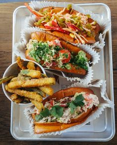 Smack Deli- want to try their lobster rolls and courgette fries!!!