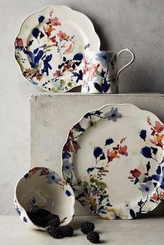Wildflower Study Dinner Plate - anthropologie.com