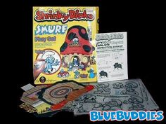 Deluxe Smurf Shrinky Dink Playset. one kid uses the oven without parental supervision, blows up his house. These were pulled off shelves for s decade. They are back now.  holla woot!