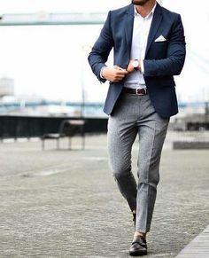 Login Login Classic business outfit for men. Nothing really special . - Login Login Classic business outfit for men. Nothing really special. But still stylish! Blazer Outfits Men, Mens Fashion Blazer, Mens Fashion Blog, Suit Fashion, Fashion Ideas, Mens Classy Outfits, Fashion Rings, Fashion Boots, Blue Blazer Outfit