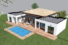 plan de maison moderne plain pied TEMPLATE (5) | Дома | Pinterest ...