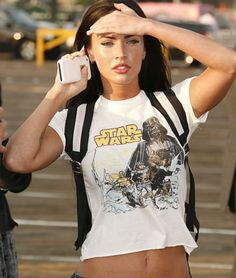 Megan Fox became internationally well known after her role in Transformers; she starred in the first one (Transformers) and the sequel (Transformers: Revenge of the Fallen). Description from eurolade.wordpress.com.