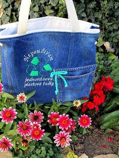 Handmademaja / RECY taška jeans Tote Bag, Jeans, Handmade, Hand Made, Totes, Denim, Tote Bags, Denim Pants, Handarbeit