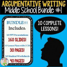 A great way to learn and teach writing Argumentative / Argument essays for everyone!