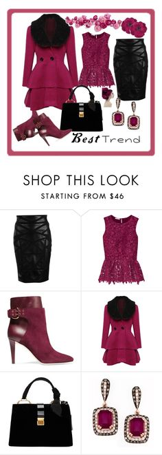 """""""Untitled #10"""" by di-kah ❤ liked on Polyvore featuring Versace, Oscar de la Renta, Jimmy Choo, WithChic, Miu Miu and Gucci"""