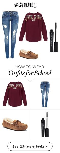 """School"" by chelsb-axa on Polyvore featuring Victoria's Secret, UGG Australia and Smashbox"