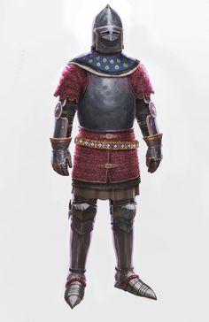 ArtStation - Kingdom come: Deliverance concept art batch, Simon Gocal Medieval World, Medieval Knight, Medieval Armor, Medieval Fantasy, Armor Concept, Concept Art, Kingdom Come Deliverance, Medieval Drawings, Knight Art