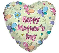 "#burtonandburton Spring Wings 18"" Happy Mother's Day Balloon. #mothers_day_balloons #balloons"