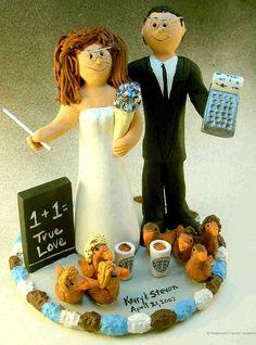 Accountant's Wedding Cake Topper
