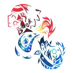 Tribal Ruby + Sapphire by Kyuukeru
