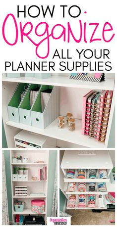Tips To Organize Planner Supplies Don't miss these tips to organize planner supplies and keep all of your planner stickers organized!Don't miss these tips to organize planner supplies and keep all of your planner stickers organized! Organisation Hacks, Sticker Organization, Home Office Organization, Craft Organization, Organizing Ideas, Organising, Stationary Organization, Organizing Paperwork, Organizing Life